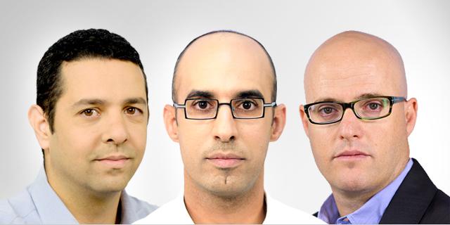 """מימין: אסף מיכאלי, הראל שרעבי ויואב גפני, צילום: לע""""מ, Mark Neyman"""