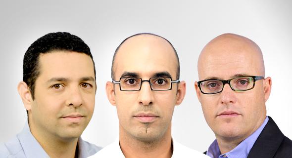 מימין: אסף מיכאלי, הראל שרעבי ויואב גפני