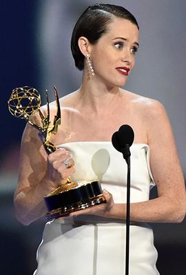 קלייר פוי, השחקנית הטובה ביותר, צילום: EPA