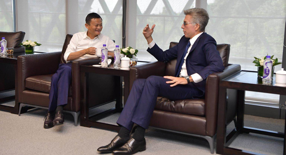 Alibaba CEO Jack Ma (left) and SAP CEO Bill McDermott. Photo: PR