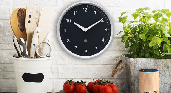 אמזון אקו שעון קיר amazon echo wall clock, קרדיט: אמזון Amazon.com