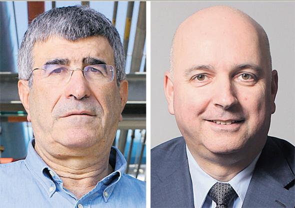 """מנכ""""ל מיטב דש אילן רביב ו מנכ""""ל פז יונה פוגל, צילומים: עמית שעל"""