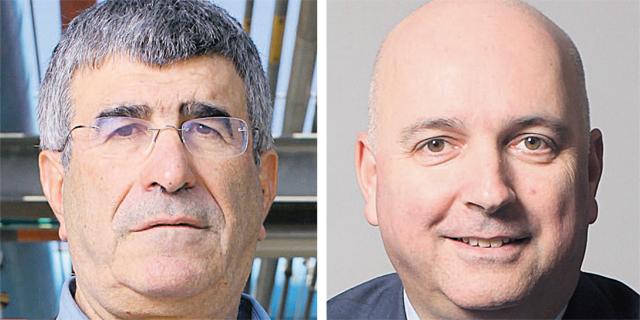 """מימין: אילן רביב ומנכ""""ל פז יונה פוגל"""