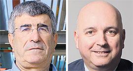 """מימין: מנכ""""ל מיטב דש אילן רביב ומנכ""""ל פז יונה פוגל, צילומים: עמית שעל"""