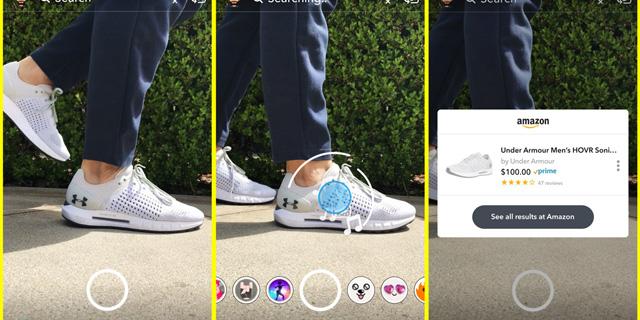 חדש בסנאפצ'ט: סריקת מוצרים במצלמה וחיבור לעמודים באמזון