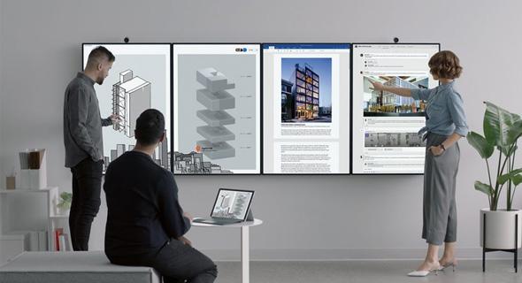 Surface Hub, לוח מחיק חכם שפיתחה החברה, צילום: מיקרוסופט