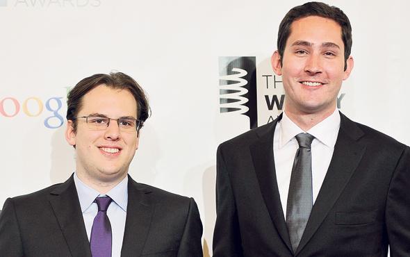 מייסדי אינסטגרם. מימין: קווין סיסטרום ומייק קריגר. מנוע הצמיחה העיקרי של פייסבוק, צילום: רויטרס