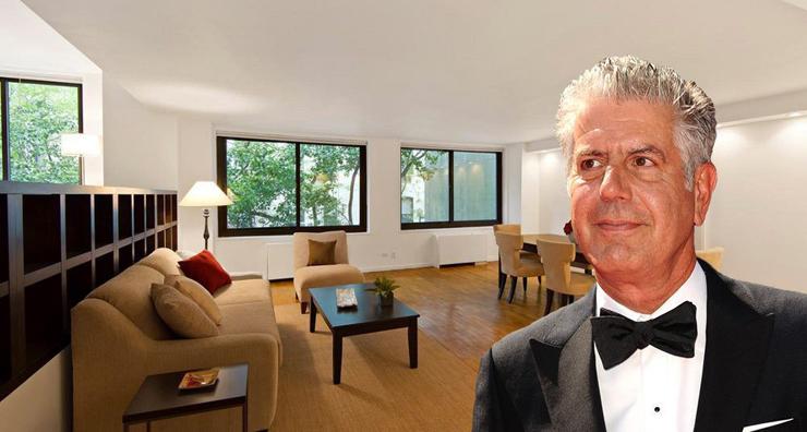 אנתוני בורדיין המנוח, על רקע הדירה הנמכרת