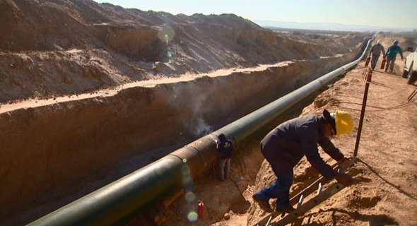 Work on the pipe. Photo: EAPC