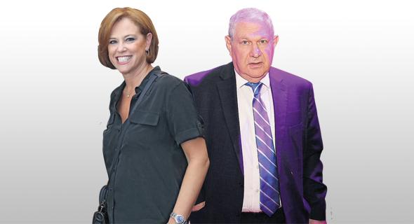 משמאל: רקפת רוסק עמינח ודוד ברודט, צילום: אוראל כהן