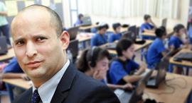 נפתלי בנט כיתה ממוחשבת תלמידים בית ספר מחשבים, צילום: טל שחר, אוראל כהן