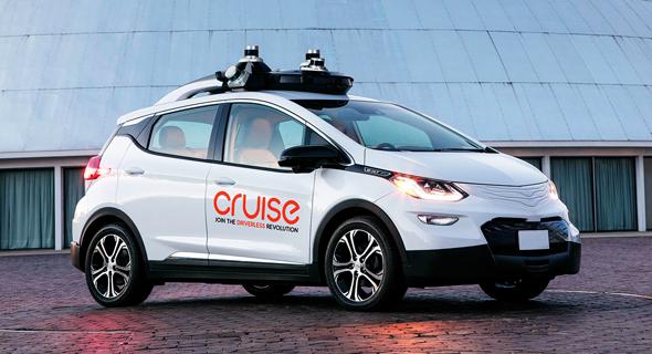 האמריקאים עדיין מובילים. רכב אוטונומי של קרוז, צילום: GM