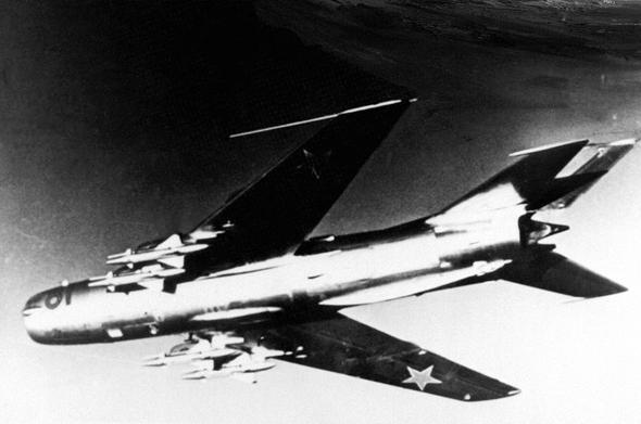 מיג 19 באוויר, צילום: wikipedia
