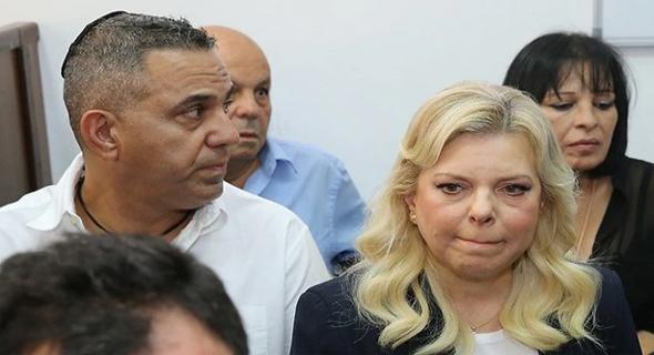 שרה נתניהו היום בבית המשפט, צילום: עמית שאבי