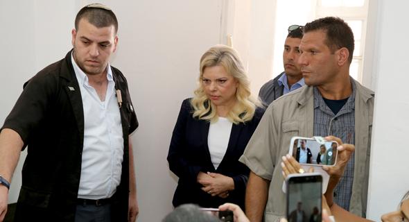 שרה נתניהו ב בית המשפט 7.10.18, צילום: עמית שאבי