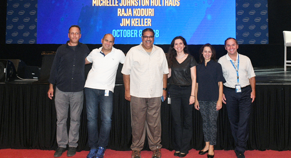 Intel executives in Israel. Photo: Ohad Palk