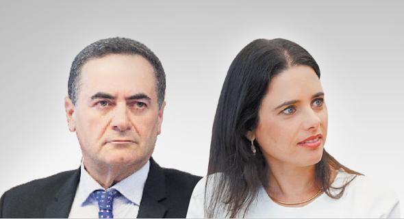 מימין: איילת שקד ו ישראל כץ, צילום: אלכס קולומויסקי