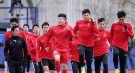 שחקני נבחרת סין בכדורגל מתאמנים כדורגל סיני סינים ב כדורגל, צילום: איי אף פי