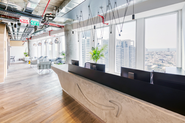 Amazon's Tel Aviv offices. Photo: Tomer Foltin