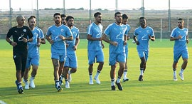 אימון של נבחרת ישראל, צילום: אורן אהרוני