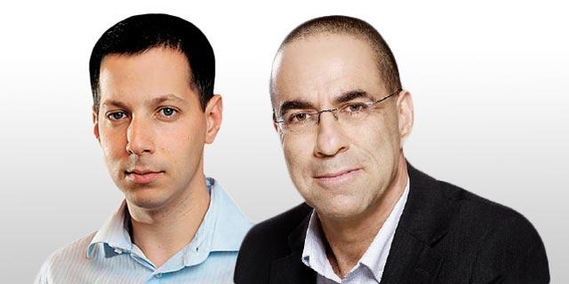 """משמאל: דייב לובצקי, מנכ""""ל IBI ועדו קוק, סגן היו""""ר, צילום: אילן בשור"""