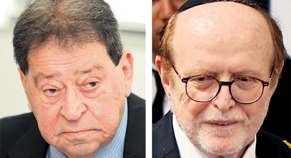 """מימין: עו""""ד יעקב וינרוט ובנימין בן אליעזר ז""""ל"""