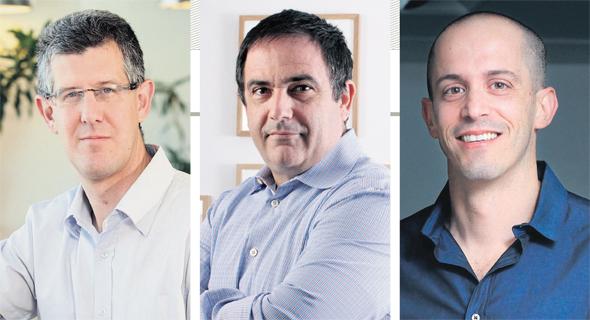מימין: מיקי בודאי, שלמה קרמר ועמיחי שולמן. הצליחו בזירת החדשנות הטכנולוגית, אך לא הצליחו להפוך את אימפרבה לענקית בורסאית כמו צ'ק פוינט, צילום: עמית שעל, אוראל כהן