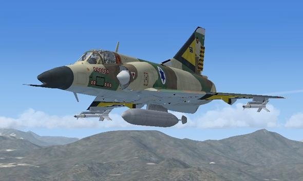 הדמיית מטוס נשר, צילום: mirage4fs