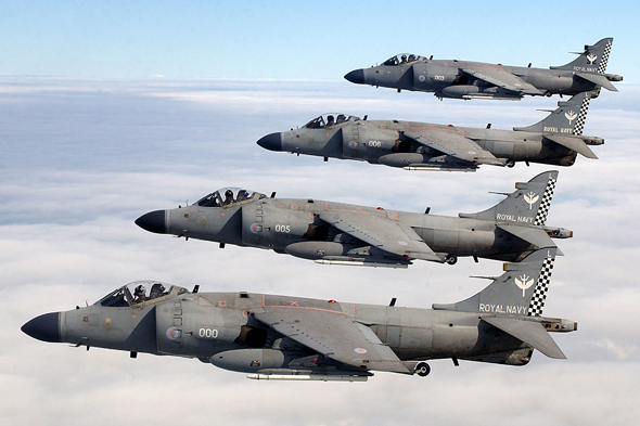 מטוסי סי-הארייר של חיל הים הבריטי, צילום: LA(PHOT) Bunting - Wikimedia
