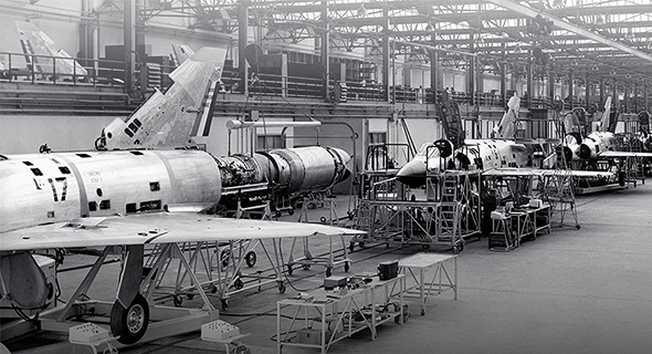 פס ייצור מטוסי מיראז' בצרפת
