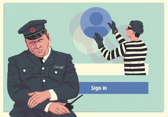 פרטיות גוגל אבטחת מידע סייבר פריצה, איור: יונתן פופר
