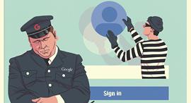 גוגל נרדמה בשמירה, איור: יונתן פופר