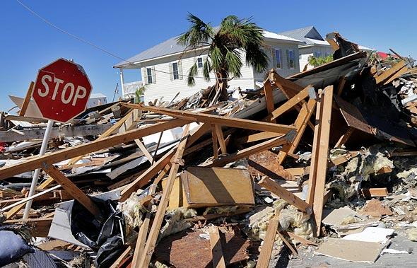 """נזקי ההוריקן מייקל בארה""""ב, צילום: אם סי טי"""