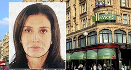 זאמירה חג'ייבה ברקע הארודס אשתו בנקאי אזרבייג'ן, צילום: East2West / גטי אימג'ס