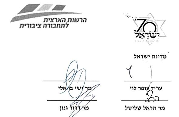 חתימת דרור גנון על המסמך