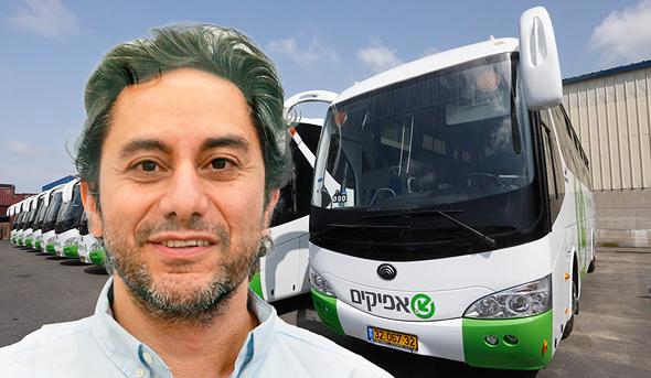"""דרור גנון, מ""""מ ראש הרשות הארצית לתחבורה ציבורית במשרד התחבורה, על רקע אוטובוסים של חברת אפיקים"""