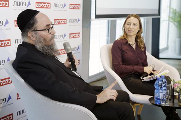 ועידת פסגות 360 דיאנה בחור ניר ב שיחה עם אריה בוים מייסד בעלים רשת אושר עד, צילום: עמית שעל