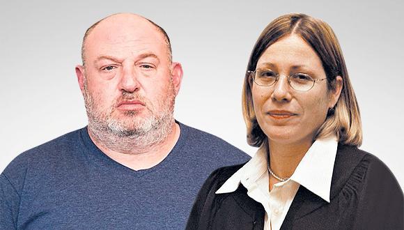 """השופטת בדימוס אורנית אגסי והראל ויזל מנכ""""ל פוקס, צילום: שוקה כהן"""
