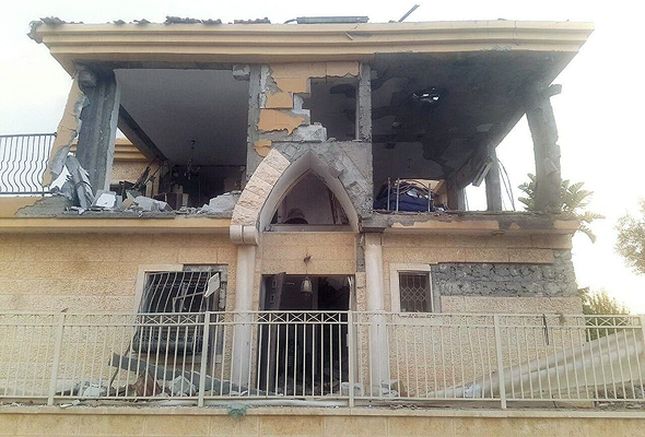הבית שנפגע בבאר שבע
