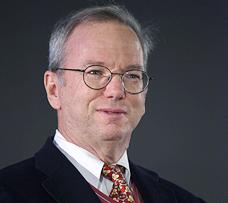 """יו""""ר גוגל אריק שמידט. השקיע באקו של בלוך דרך הקרן הפרטית שלו, צילום: אי פי איי"""
