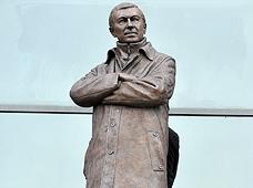 """פסל הברונזה של פרגוסון. """"קצה של חיוך"""", צילום: איי אף פי"""