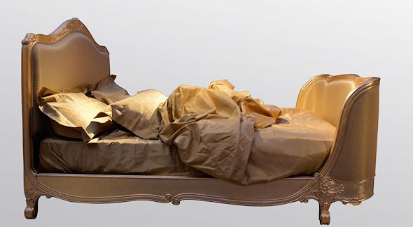 סדינים מזהב 24 קראט. מתאימים למיטת קינג סייז, צילום: Sotheby