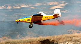 מטוס כיבוי אש של כים ניר, צילום: מאיר אזולאי