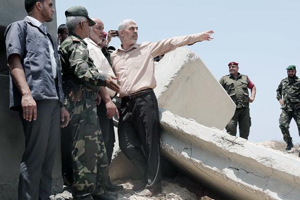 מנהיג חמאס יחיא סינוואר, צילום: אי פי איי