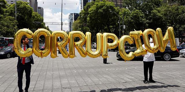 שחיתות מקסיקו הפגנה, צילום: רויטרס