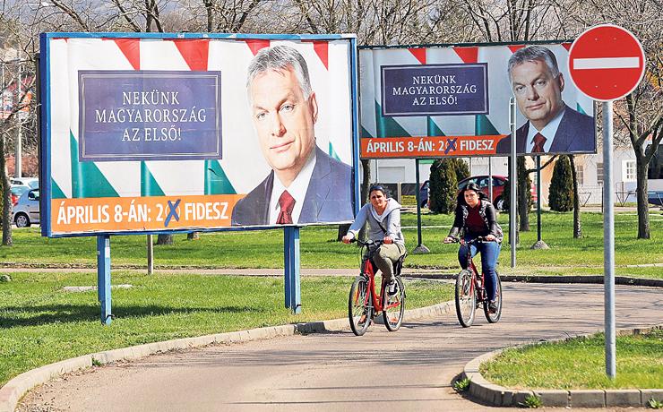 שלט בחירות של ויקטור אורבן, ראש ממשלת הונגריה