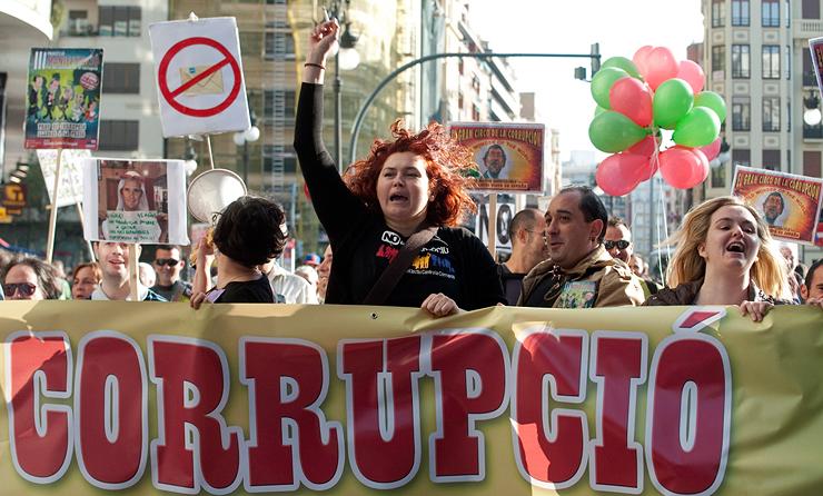 הפגנה נגד שחיתות בספרד