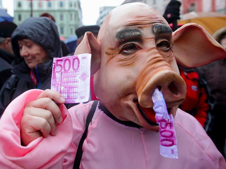 הפגנה נגד שחיתות בסלובניה