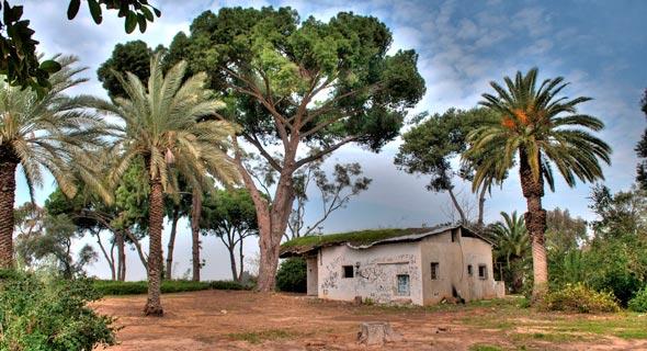 המבנה הנטוש בגן שיעבור הליך של שימור. גרו בו הוריו של האלוף אברהם יפה