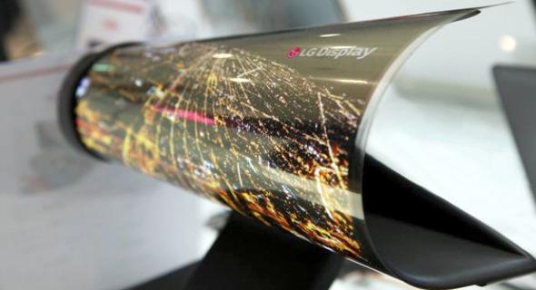 מסך גמיש של LG, צילום: GSMArena
